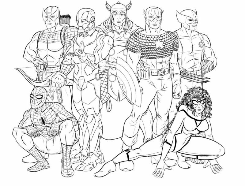 Ausmalbilder Avengers. 100 besten Bilder zum kostenlosen Drucken
