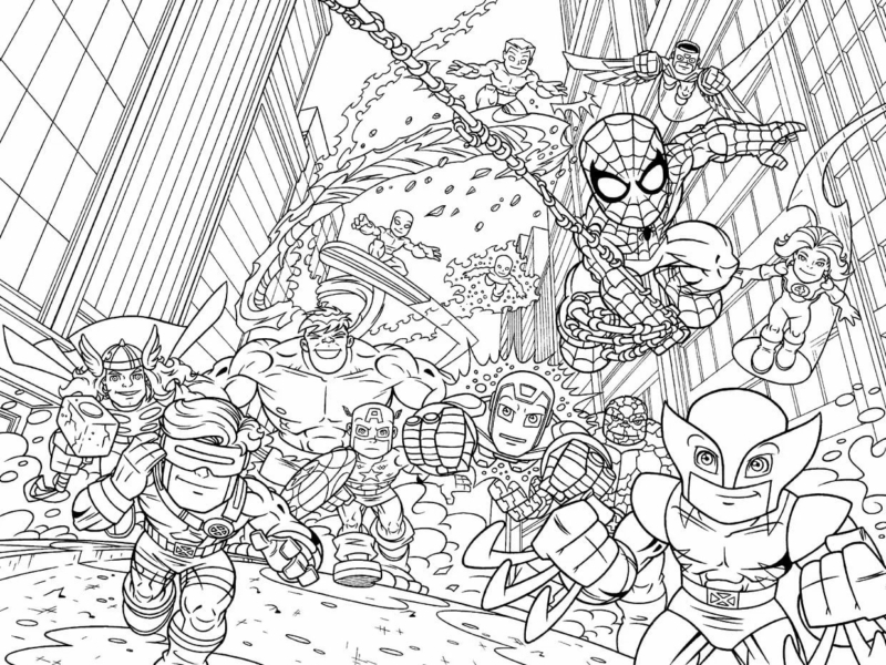 Avengers Coloring Pages. 100 best images Free Printable