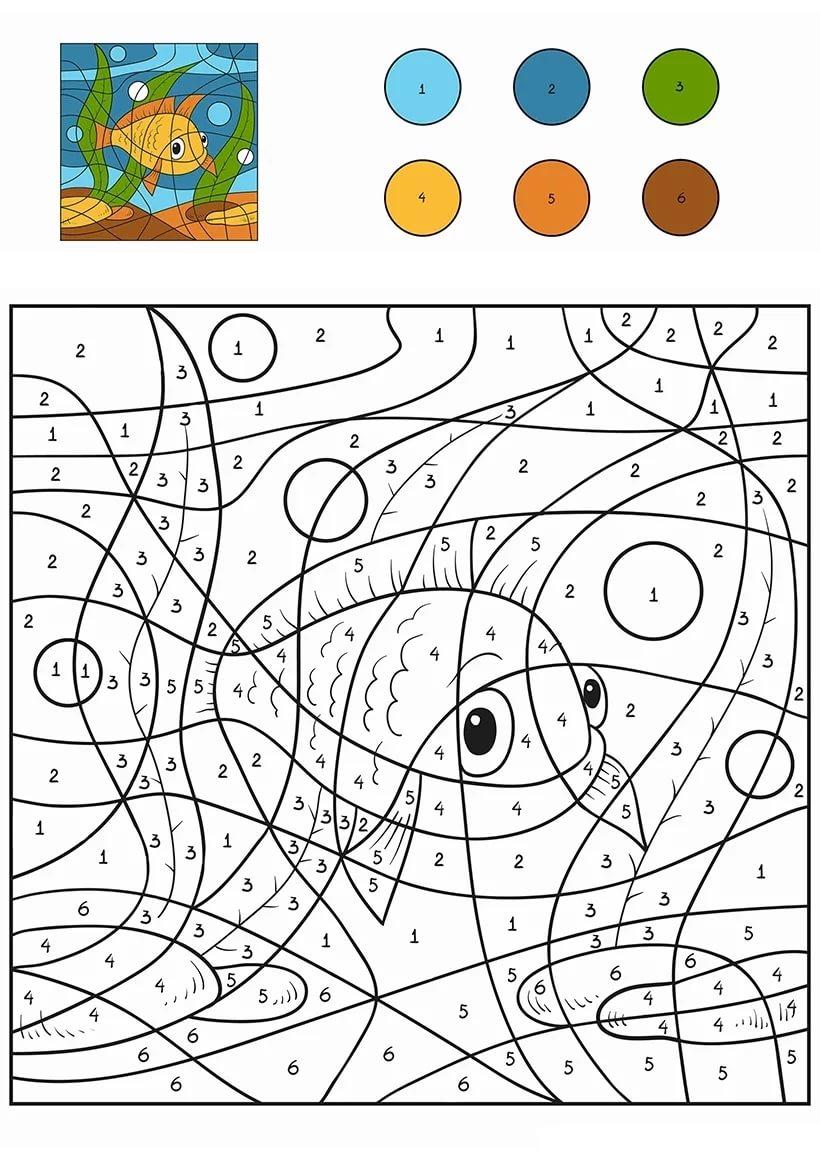 Раскраска по цифрам для детей. Скачать или распечатать ...