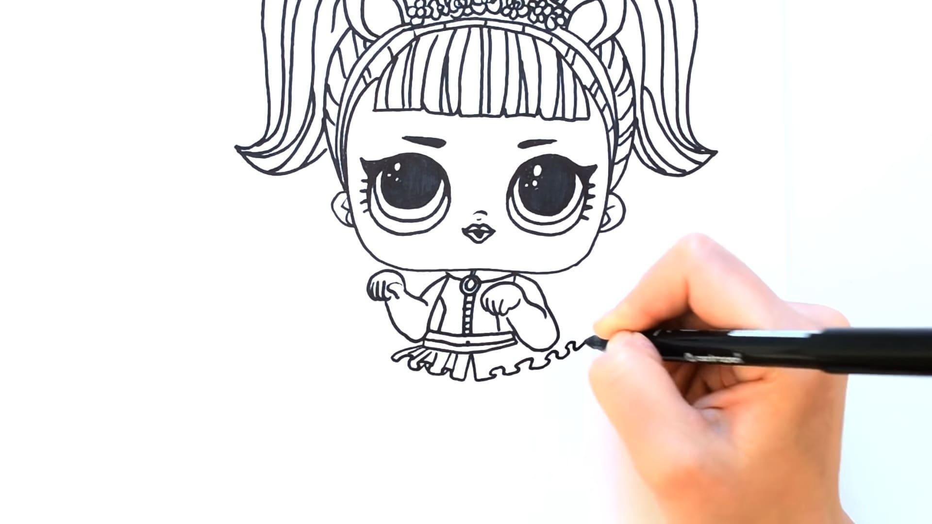 Как нарисовать куклу ЛОЛ поэтапно карандашом. Быстро и легко