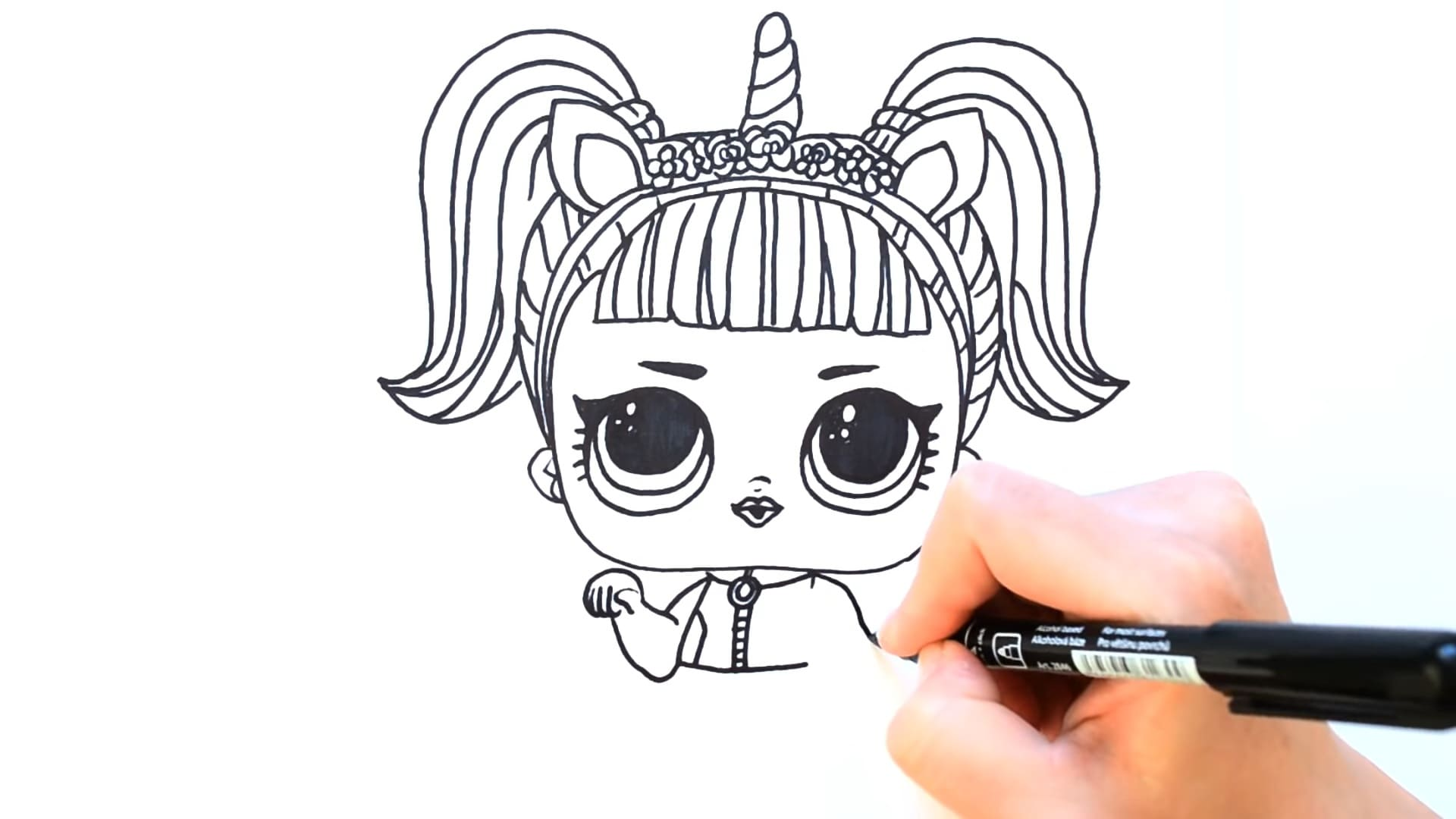 How to draw LOL doll with pencil according to instructions fast and easy