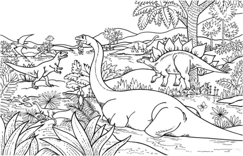 Coloriage Jurassic World Camp Cretaceous - La colo du Crétacé