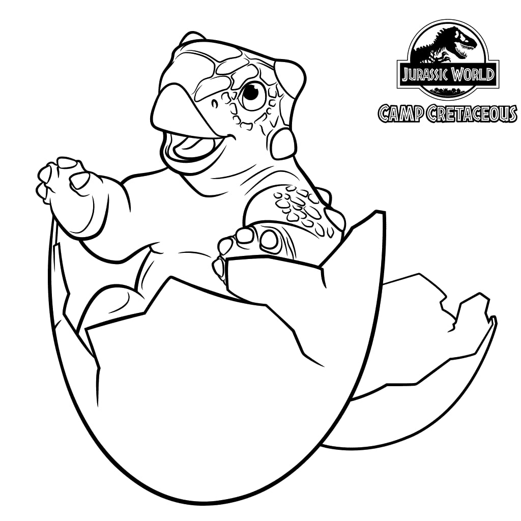 Coloriage Jurassic World Camp Cretaceous - La colo du Crétacé