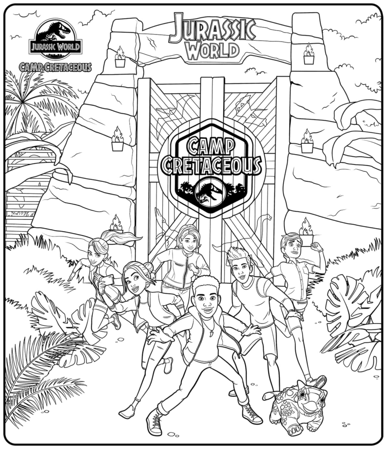 Jurassic World Camp Cretaceous Coloring Pages - Free Printable