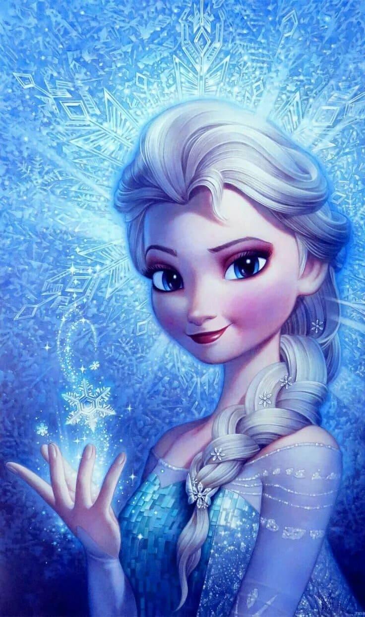 Bilder von Elsa aus dem Film Eiskönigin. Frozen