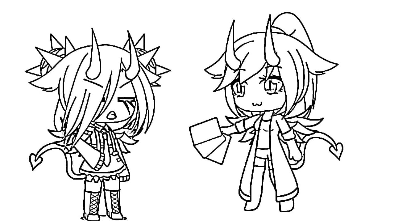 Gacha Life Coloring Pages. New Unique Collection. Print ...