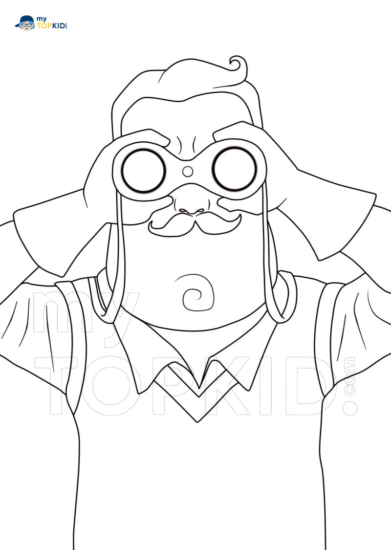 Hello Neighbor Coloring Pages. 25 New Pictures Free for Printing