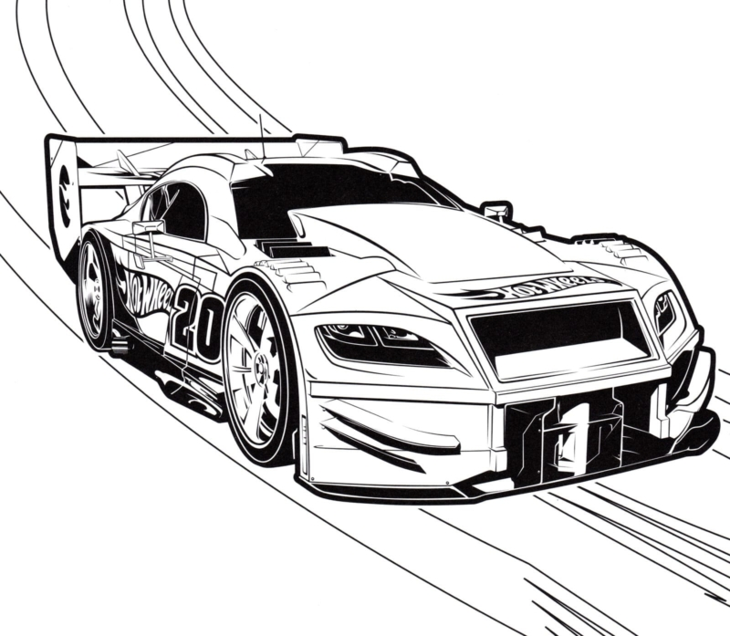 Hot Wheels Coloring Pages. 100 Best Images Free Printable