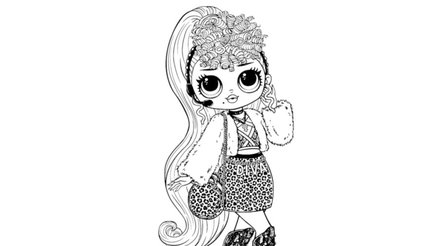 Diva Glitter Coloring Page Lotta LOL (With images) | Coloring ... | 506x900