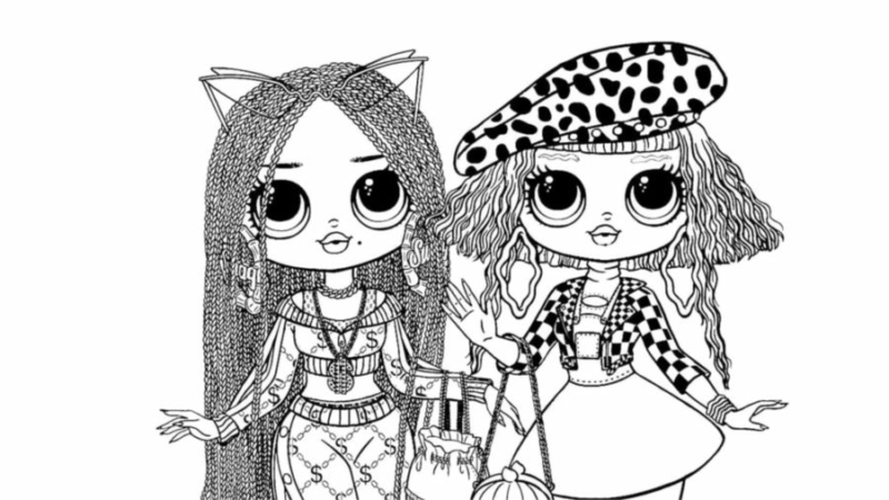LOL OMG Coloring Pages. 46 Best Images of New Dolls Free Printable