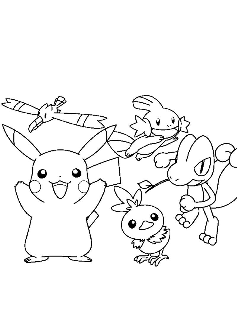 Coloriage Pokemon. Imprimez 110 images gratuitement