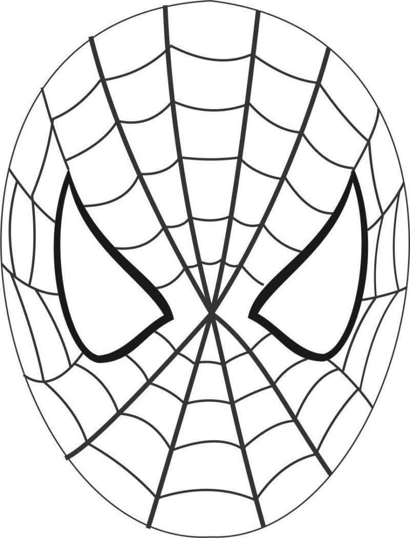 Spiderman Paper Mask. Print and Do It Yourself Easy Art For Kids