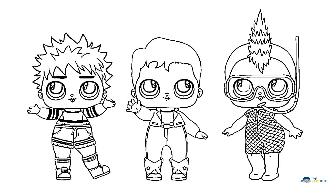 LOL Boys Coloring Pages. Print Brothers Popular LOL Dolls